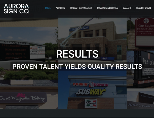 Aurora Sign Website Before & After