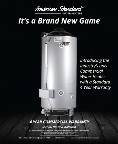 American Standard Water Heaters flyer