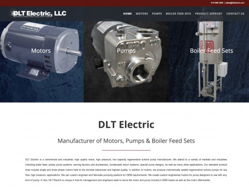 DLT Electric Website Before & After
