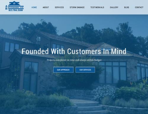 A&B Exteriors Website Design Before & After