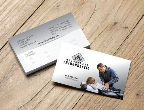 Mainstreet Chiropractic Business Card