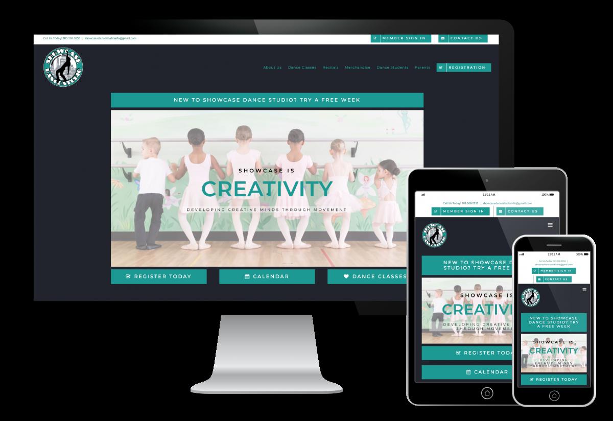 Showcase Dance Studio Website Design