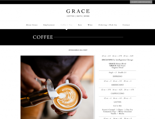 GRACE Website Design