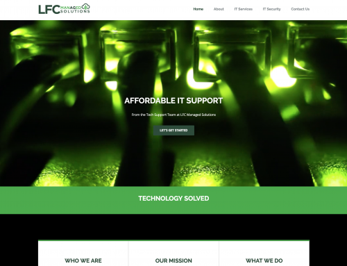 LFC Managed Solutions Website Design