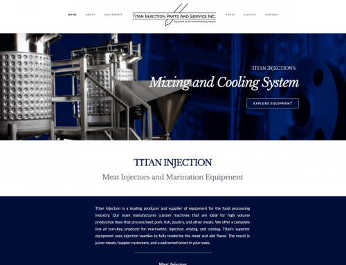 Titan Injection Website Design