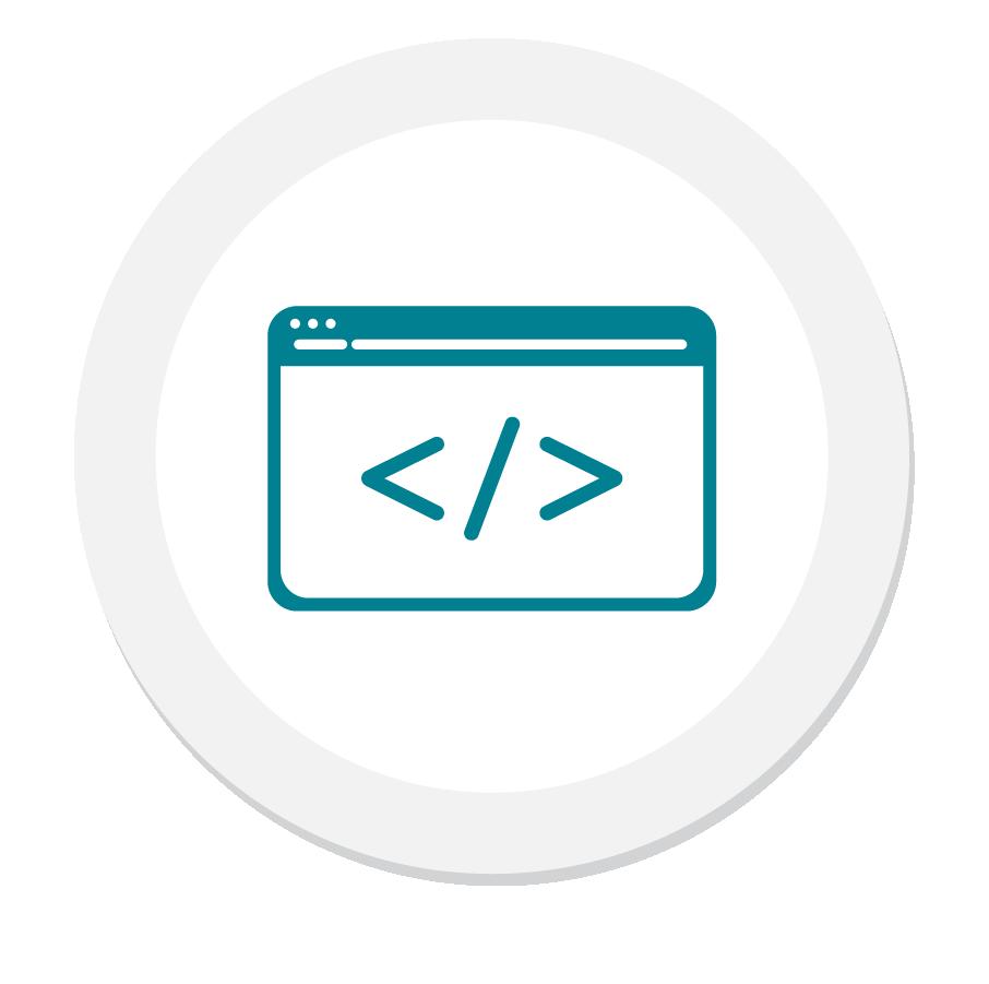Teal HTML Bracket