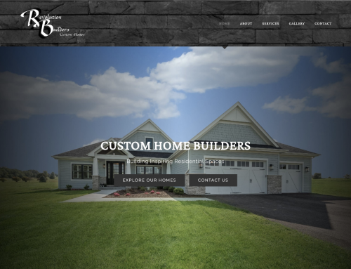 Revolution Builders Website Design