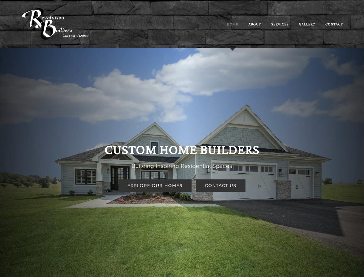 Revolution Builders Homepage
