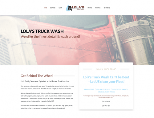 Lola's Truck Wash Website Design